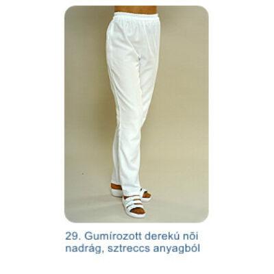 Női nadrág, vastag streccs anyagból, szűkített, élre varrt szárral, oldalt zippzáros (méret: 38-40)