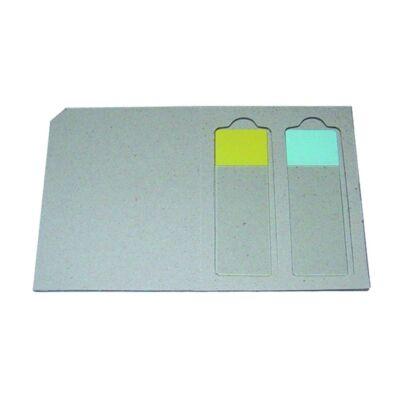 Tárgylemez-tartó,postai,karton,50x2db lemezhez