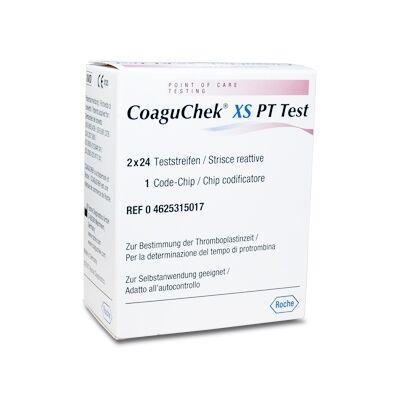CoaguChek XS tesztcsík, 2x24 db/dob