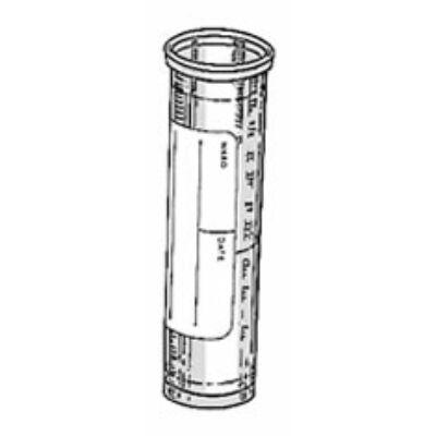 Kémcsô, 5ml, 16x58mm, osztott, peremes, álló, cimkés, PP, 3500x