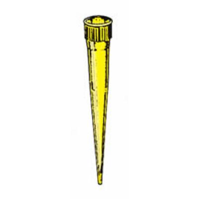 Pipettahegy, Eppendorf-Brand-Socorex, 0-200µl, sárga, 20x5