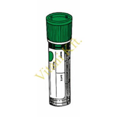 K3EDTA 5,0ml vér,16x58mm, PP cső, zöld dugó, 1x