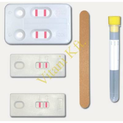 Rotavírus tesztlap, széklet,20x
