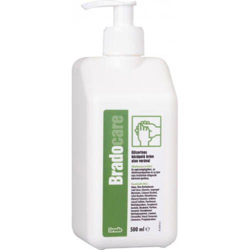 Bradocare kézápoló krém,glicerines,Aloe Vera,pumpás,500ml