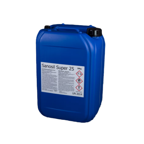 SANOSIL SUPER 25 Ag fertőtlenítő folyadék koncentrátum 30 kg / 25 liter