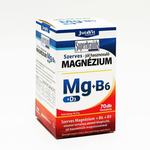 Magnézium 250mg+B6+D3 nyf. 50x, Jutavit