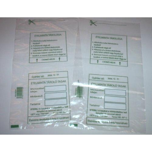 Ételminta tároló tasak, nem steril, 100x