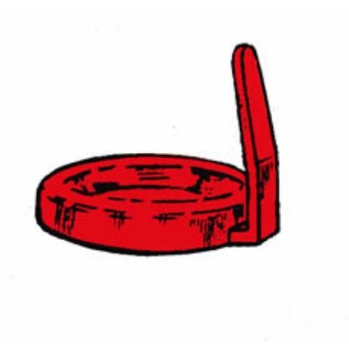 Kupak piros, füles,18159 és 18169-hez  100db