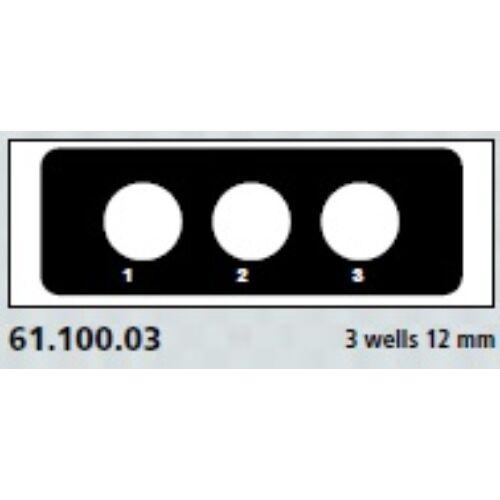Teflon bevonatú tárgylemez, 3x12mm,számozott   100x