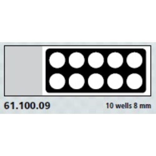 Teflon bevonatú tárgylemez,10x8mm              100x