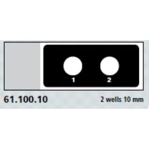 Teflon bevonatú tárgylemez,2x10mm,számozott    100x