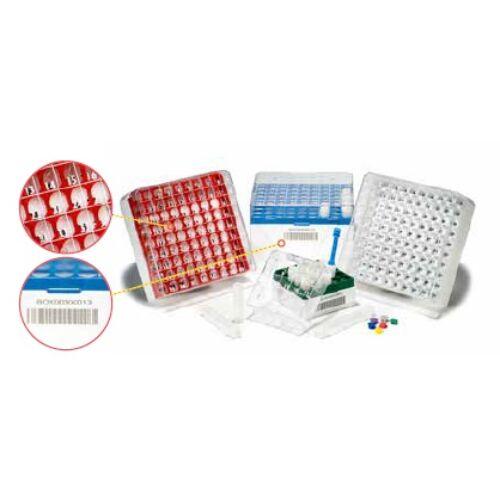 CRYO tároló doboz, 9x9db/3-5ml, 1D, piros, 1x