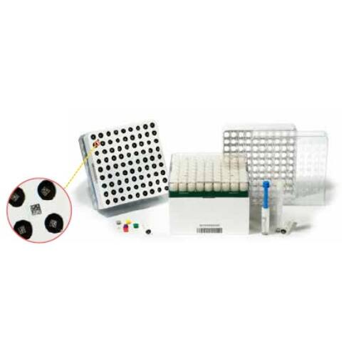 CRYO-tároló doboz, 10x10db/1-2ml csőhöz, bar+2D, fehér, 1x
