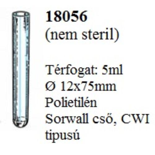 Kémcsô, 5ml, 12x75mm, Sorvall CWI, PS, 1000x