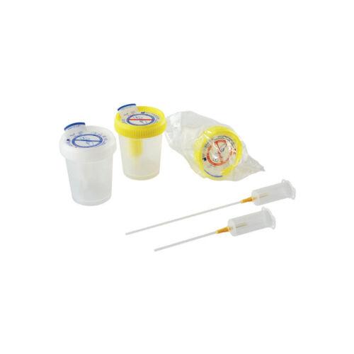 Mintavevô pohár, vizelet, 60ml, sárga, steril, 500x