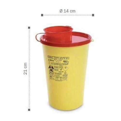 Tűledobó tartály, 2,0 l, PP, 21,x14cm. 1x