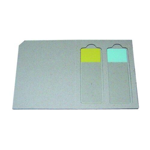 Tárgylemez-tartó, postai, karton, 5x2db lemezhez