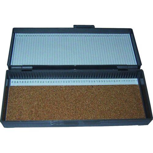Tárgylemez-tartó doboz. ABS,parafa,1x50 férôhelyes,1x