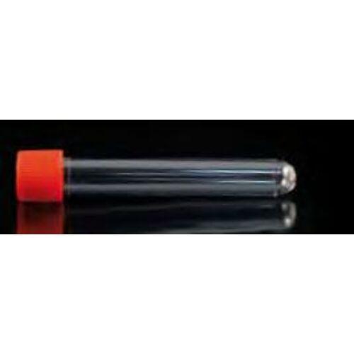 Kémcsô, 10ml, 16x100mm, csavaros kupak, PS, steril, 200x