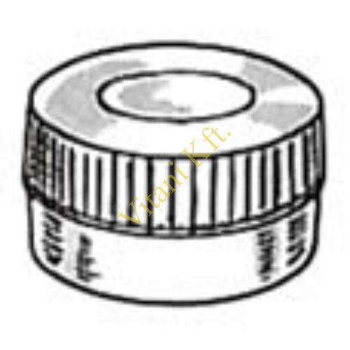 Centrifichem mintatartó kupak 4 fajta mintatartóhoz, PE