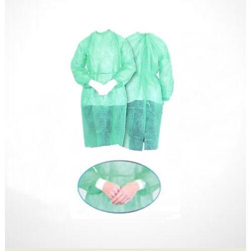 Látogatóköpeny, nem szôtt textil, kötôs, zöld, XL
