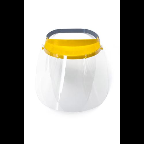 Arcvédő pajzs,sárga fejpánttal